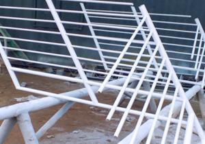 Construcción de escalera metalica UTP Washinton